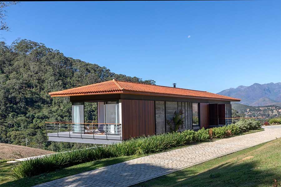 Modernidade em casa na serra